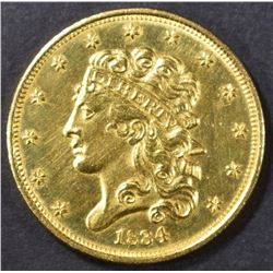1834 $5 GOLD CLASSIC HEAD  CH BU