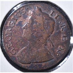 1736 GREAT BRITAIN HALF PENNY