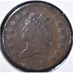 1812 LARGE CENT FINE, RIM BUMPS