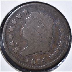 1814 LARGE CENT GOOD, SCRATCHED