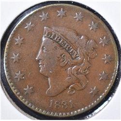 1831 LARGE CENT F/VF