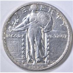 1919-D STANDING LIBERTY QUARTER AU