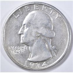 1934-D WASHINGTON QUARTER  XF