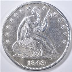 1849-O SEATED LIBERTY HALF DOLLAR  AU
