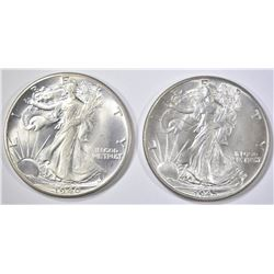 1940 & 45 WALKING LIBERTY HALVES  CH BU