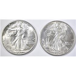 1945-P,D WALKING LIBERTY HALVES  CH BU