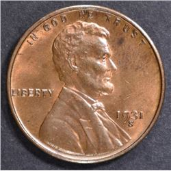 1931-S LINCOLN CENT CH BU RB