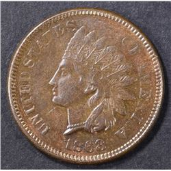 1868 INDIAN CENT  CH BU BN
