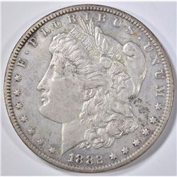1882-CC MORGAN DOLLAR  AU/BU