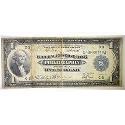 1918 $1 FEDERAL RESERVE BANK OF PHILADELPHIA