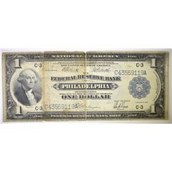 1918 $1 FEDERAL RESERVE BANK OF PHILADELPHIA