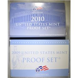 2009 & 2010 U.S. PROOF SETS ORIG PACKAGING