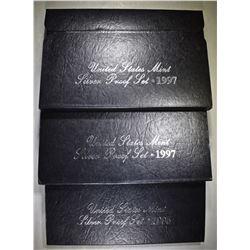 1995 & 2-97 U.S. SILVER PROOF SETS OGP