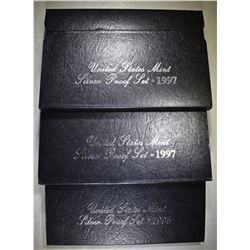 1995 & 2-97 U.S. SILVER PROOF SETS OGP