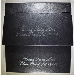 1995 & 98 U.S.SILVER PROOF SETS OGP