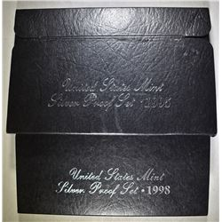 1995 & 98 U.S.SILVER PROOF SETS OGP
