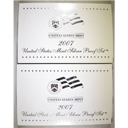2-2007 U.S. SILVER PROOF SETS OGP