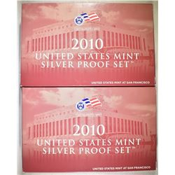 2-2010 U.S. SILVER PROOF SETS IN ORIG PACKAGING