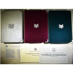 1986, 88 & 90 U.S. PRESTIGE PROOF SETS OGP