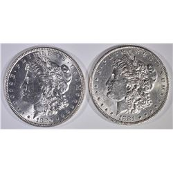 2-BU MORGAN DOLLARS: 1880 & 1881-O