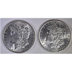1884 & 1884-O BU MORGAN DOLLARS