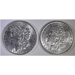 1884-O & 1885 BU MORGAN DOLLARS