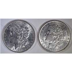 1884-O & 1885 BU MORGAN DOLLARS