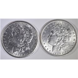 1896 & 1899-O BU MORGAN DOLLARS