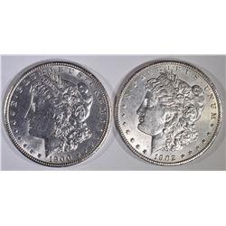 1900 & 1902-O BU MORGAN DOLLARS