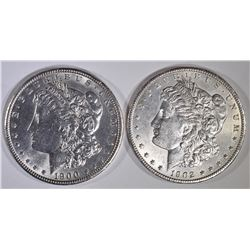 1900 & 1902-O BU MORGAN DOLLARS