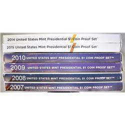 U.S. PRESIDENTIAL PROOF SETS: