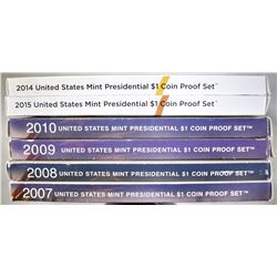 U.S. PRESIDENTIAL PROOF SETS: