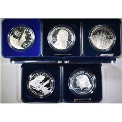5-Pf COMMEM SILVER DOLLARS COINS & INNER BOXES