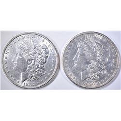 1887 BU & 1890-S AU/BU MORGAN DOLLARS