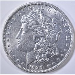 1890-O MORGAN DOLLAR AU/BU