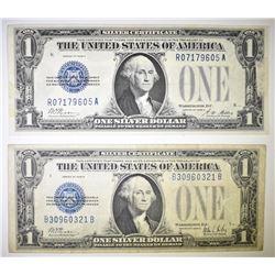 2 1928 $1 SILVER CERTIFICATES