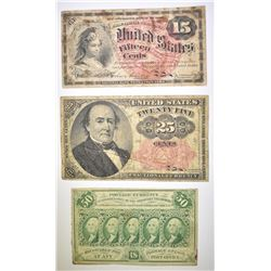 US FRACTIONAL AND POSTAGE CURRENCY LOT
