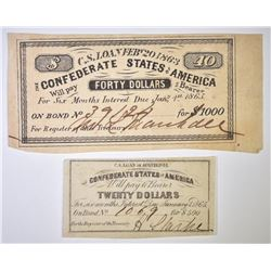 CONFEDERATE STATES LOAN PAYMENT COUPONS