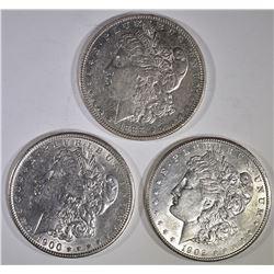 3-AU/BU MORGAN DOLLARS: 1888, 1900 & 1902-O
