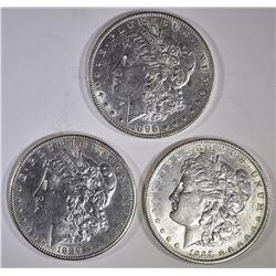 3-AU/BU MORGAN DOLLARS: 2-1889 & 1-1896