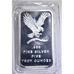 "FIVE OUNCE .999 SILVER BAR ""EAGLE"""