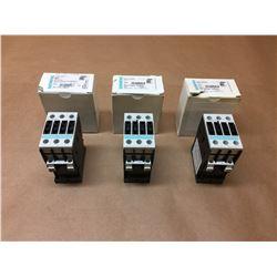 (3) Siemens Contactors 3RT1026-1BB40 & 3RT1024-1BB40 *See Pics*