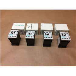 (4) Siemens Contactors 3RT1015-1BB41, 3RT1016-1BB42 & 3RT1017-1BB41 *See Pics*