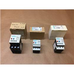 (3) Siemens Overload Relay 3RU1136-4FB0, 3RU1116-1DB0 & 3RU1126-1EB0