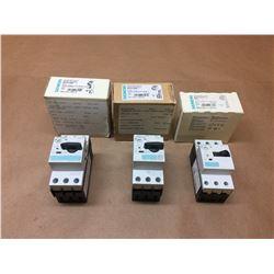 (3) Siemens Circuit Breaker 3RV1021-1EA10, 3RV1021-1DA10 & 3RV1011-1JA10