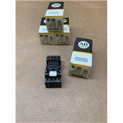 Lot of 4 Allen-Bradley 700-HN103 Relay Socket