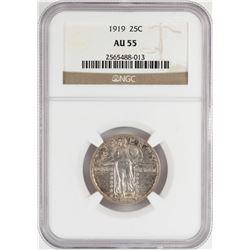 1919 Standing Liberty Quarter Coin NGC AU55