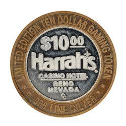 .999 Silver Harrah's Reno, Nevada $10 Casino Limited Edition Gaming Token