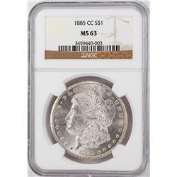 1885-CC $1 Morgan Silver Dollar Coin NGC MS63