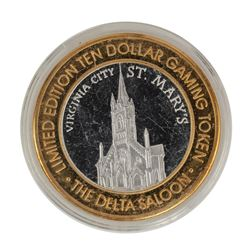 .999 Silver The Delta Saloon Nevada $10 Casino Limited Edition Gaming Token